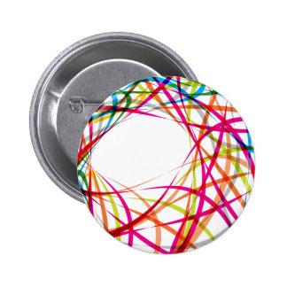 Vibrant Rainbow Twisted Pattern 6 Cm Round Badge