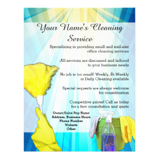 Vibrant Ray Business Office Cleaning Service Flyer