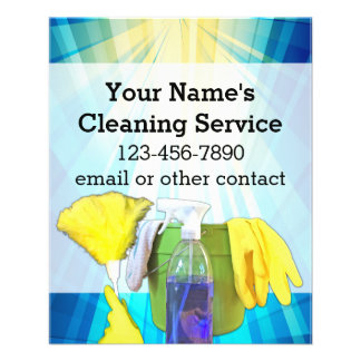 Vibrant Rays Custom Cleaning Service Business 11.5 Cm X 14 Cm Flyer