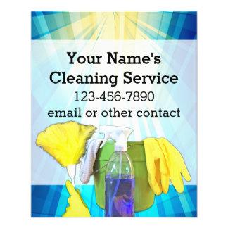 Vibrant Rays Custom Cleaning Service Business Custom Flyer