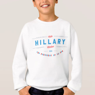 Vibrant Red & Blue Vote Hillary Clinton T-shirt
