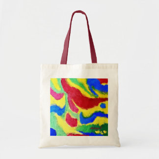 Vibrant Red Blue Yellow Abstract Art Budget Tote Budget Tote Bag