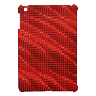 Vibrant red dot & wave pattern case for the iPad mini