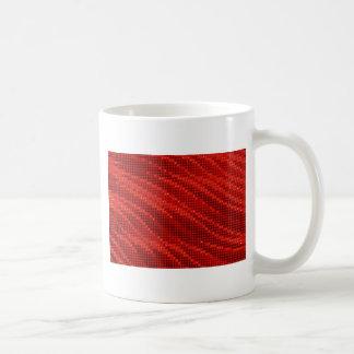 Vibrant red dot & wave pattern coffee mug