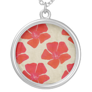 Vibrant Red Flowers Necklace