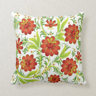 Vibrant Red Flowers Throw Cushions