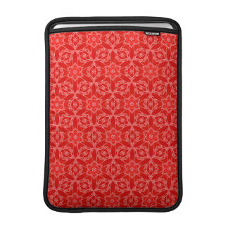 Vibrant Red Lace MacBook Air Sleeves