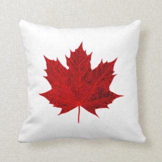 Vibrant Red Maple Leaf Throw Cushion