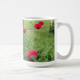 Vibrant Red Poppies Mug