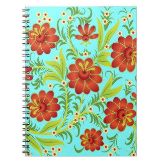 Vibrant Red Spiral Note Book