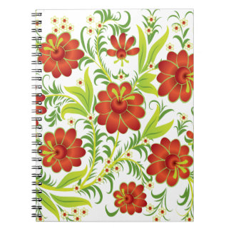 Vibrant Red Spiral Note Books
