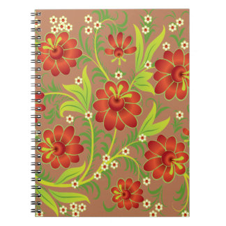 Vibrant Red Spiral Notebook