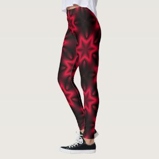 Vibrant Red Star Leggings