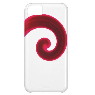 Vibrant Red Swirl iPhone 5C Case
