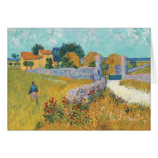 Vibrant Restored Farmhouse in Provence by Van Gogh Card