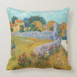 Vibrant Restored Farmhouse in Provence by Van Gogh Cushion