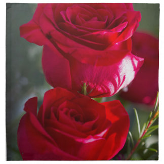 Vibrant Romantic Red Roses Printed Napkin