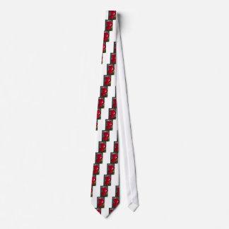 Vibrant Romantic Red Roses Tie