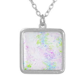 Vibrant Rorschach 01 Silver Plated Necklace