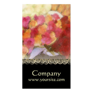 Vibrant Rose Floral Business Card Pack Of Standard Business Cards