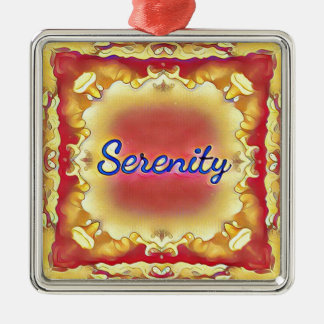 Vibrant Rose Yellow Inspirational Framed Serenity Silver-Colored Square Decoration