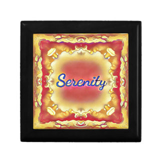 Vibrant Rose Yellow Inspirational Framed Serenity Small Square Gift Box