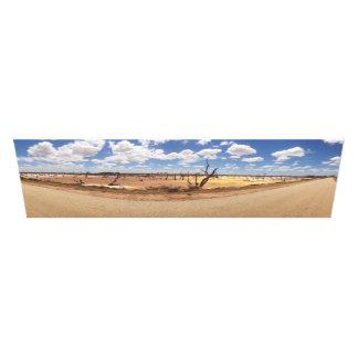 Vibrant Salt Lakes Canvas Print
