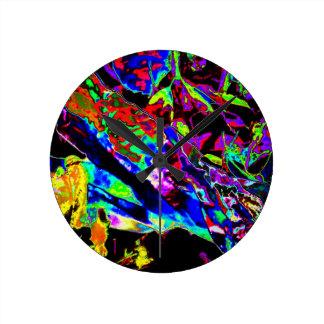 Vibrant Scatter Round Clocks