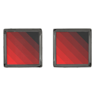 Vibrant Shades of Red. Gunmetal Finish Cuff Links
