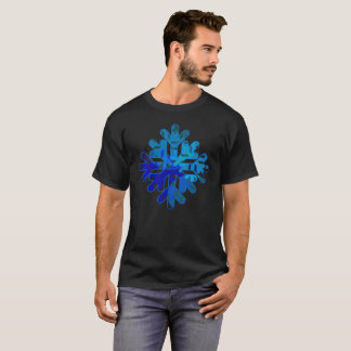 Vibrant Snowflake Modern T-Shirt