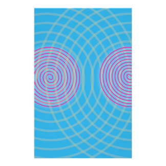 Vibrant Spirals Stationery Paper