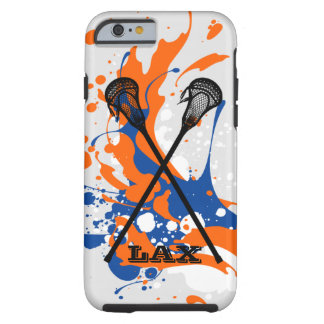 Vibrant Splash Lacrosse Sticks Personalized Tough iPhone 6 Case