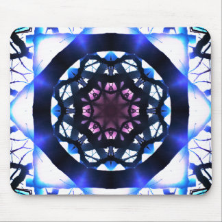 Vibrant Star Light Mandala Mouse Pad