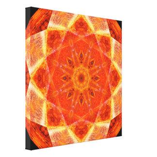 Vibrant Star Mandala Canvas Print