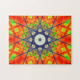 Vibrant Star Mandala Jigsaw Puzzle