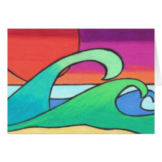 Vibrant Streaks at Sunset Greeting Card
