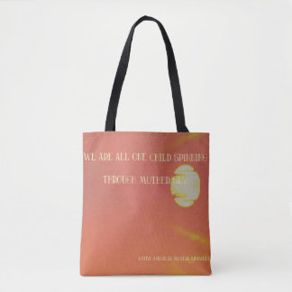 Vibrant Sun Mother Sky Native American Proverb Tote Bag