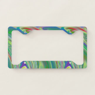 Vibrant Swells Licence Plate Frame