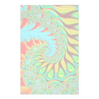 Vibrant swirl fractal stationary stationery paper