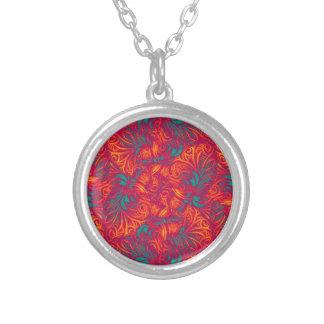 Vibrant Swirls Background Necklaces