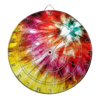 Vibrant Tie Dye Abstract Dartboard