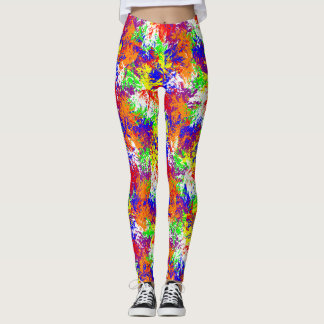 Vibrant Trippy Jiggle Pattern Leggings