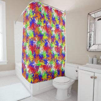 Vibrant Trippy Jiggle Pattern Shower Curtain
