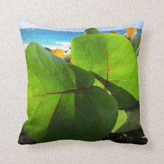 Vibrant Tropical Leaves Cushion