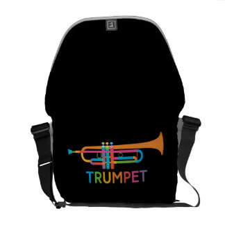 Vibrant Trumpet in Rainbow Colors Courier Bag