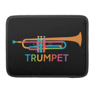 Vibrant Trumpet in Rainbow Colors Sleeve For MacBook Pro