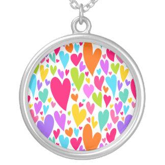 Vibrant Valentine's hearts necklace