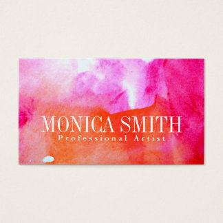 Vibrant Watercolor Business Card +