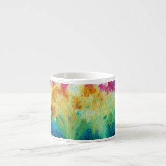 Vibrant Watercolor Garden Dissolve Specialty Mug Espresso Mug