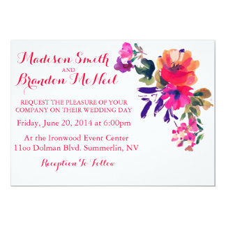 Vibrant Watercolor Wedding Invitation